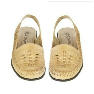 SALE Leather Sling Flats